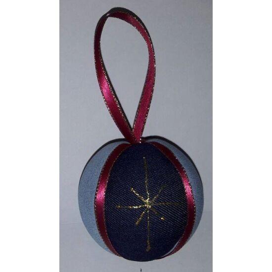 Karácsonyfadísz bordó és arany 7 cm