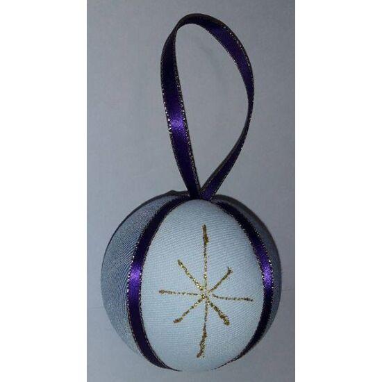 Karácsonyfadísz lila és arany 8 cm
