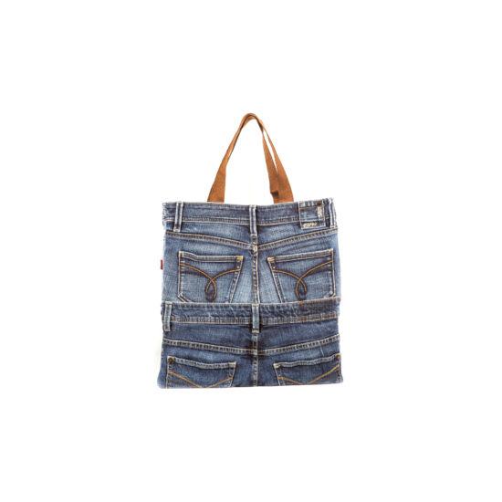 Bevásárló táska farmer részekből