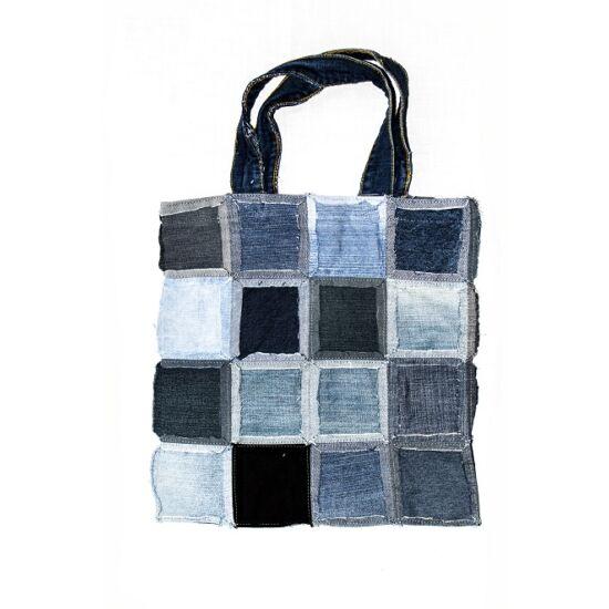 Bevásárló táska kifordított kis kockás