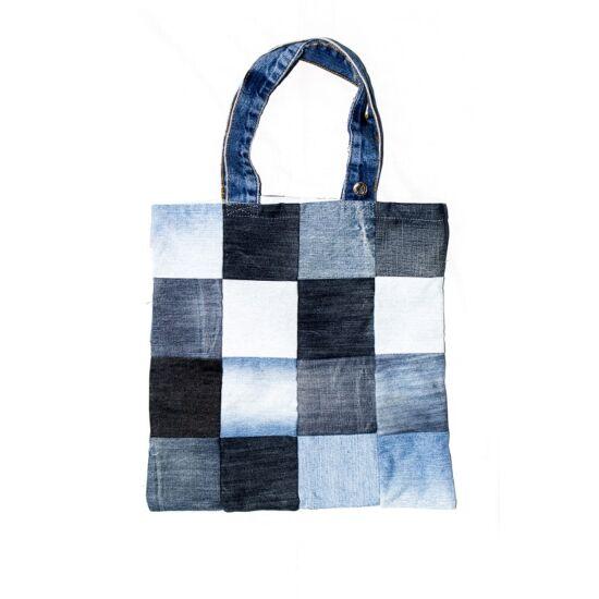Bevásárló táska kis kockás