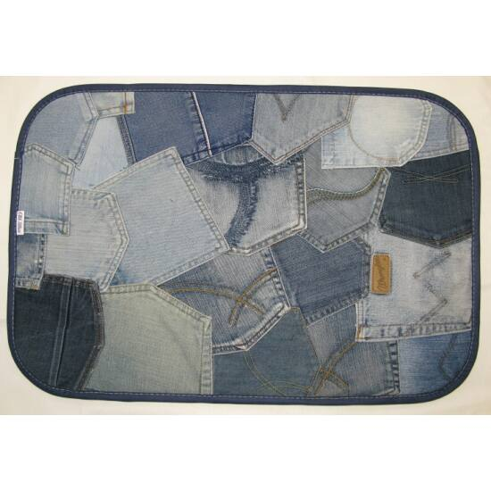 Lábtörlő  zsebekből 60x40 cm