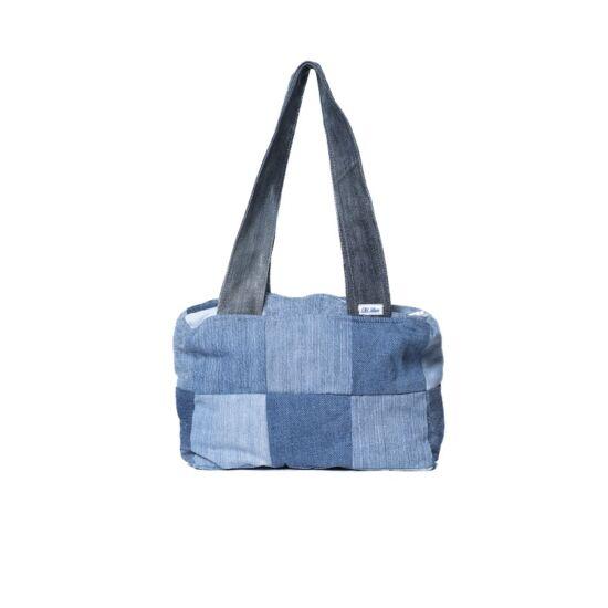 Kis kockás női táska béléssel