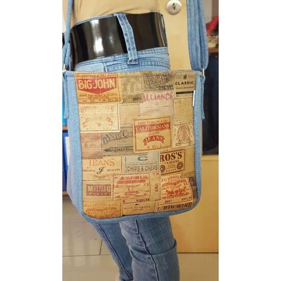 Női táska bőrcímkékkel
